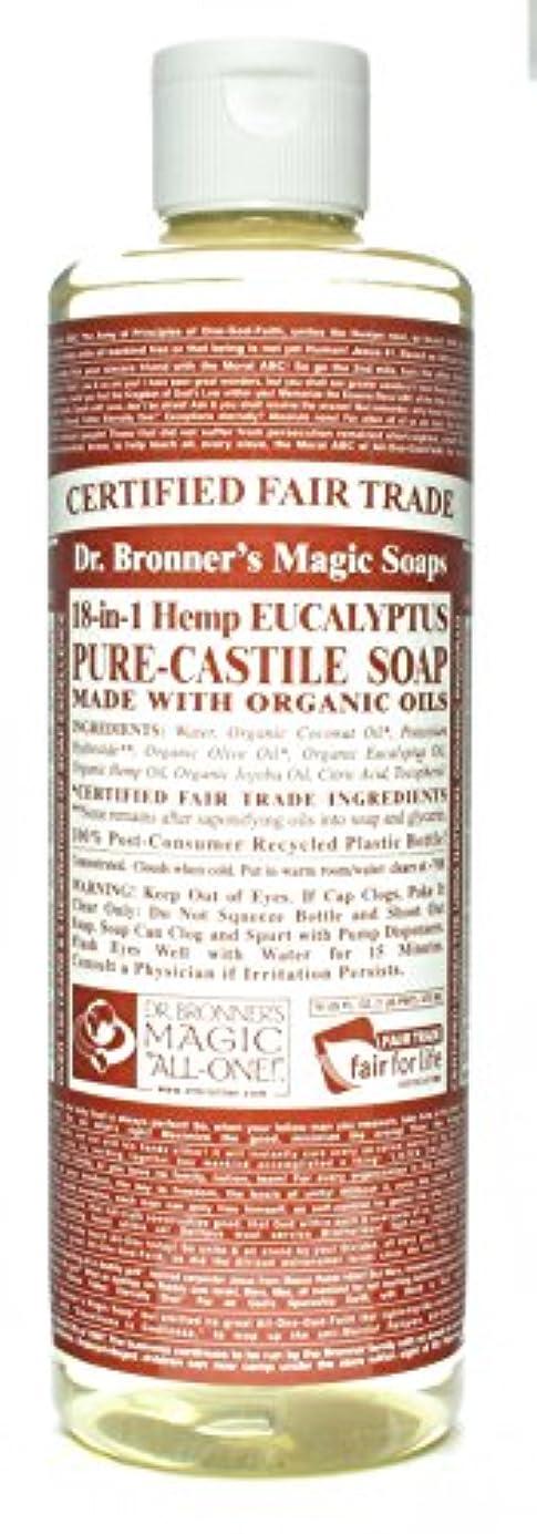 凝視含める化学薬品Dr. Bronner's 博士Bronnersユーカリ16オンスカスティーリャソープ(3パック)