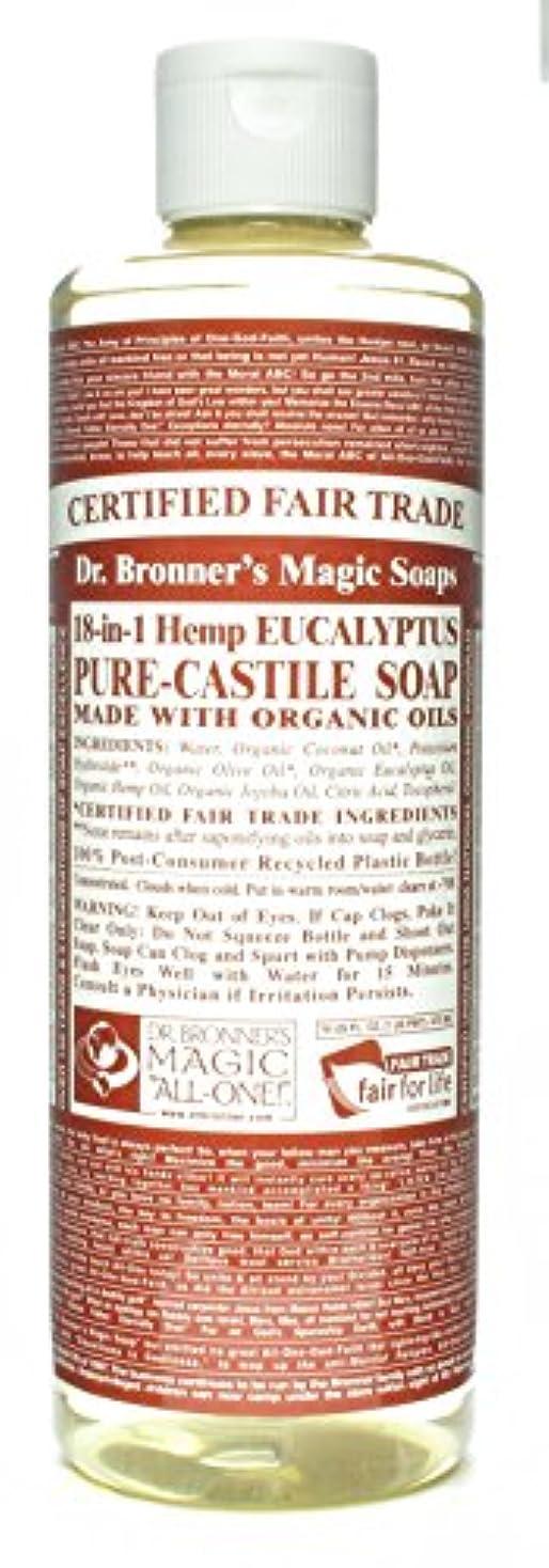控える保有者元気なDr. Bronner's 博士Bronnersユーカリ16オンスカスティーリャソープ(3パック)