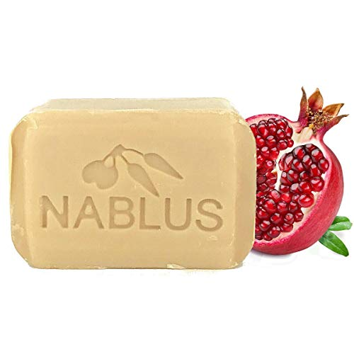 null ナーブルスソープ ナーブルスソープ(ざくろ) 100%無添加 オーガニック石鹸 フェイシャル&ボディー 100g 自然なざくろの香りの画像
