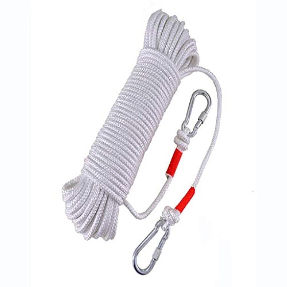 平野回転する藤色ロープアウトドアクライミングロープ、9ミリメートルセーフティロープクライミングロープロープクライミングロープナイロンロープ脱出装置、30メートル/ 20メートル/ 10メートル(サイズ:20メートル)