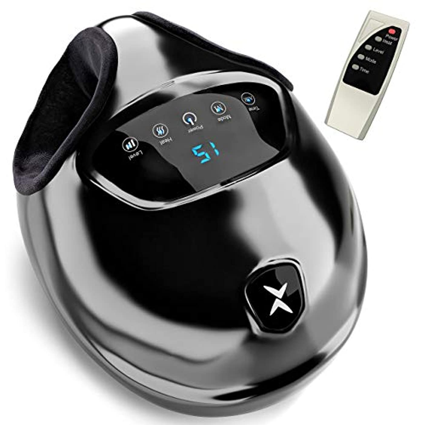 海マイナス計器[Realax ][Realax Shiatsu Foot Massager with Heat - Electric Feet Massager Machine with Deep Kneading Massage and Air Compression Therapy for Home and Office.](Parallel Imported Goods) (Black)