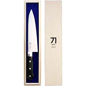 ナガオ 包丁 180mm 青紙二号鋼 刀-カタナ- 霹靂