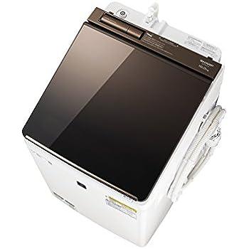 シャープ SHARP (超音波ウォッシャー搭載) タテ型洗濯乾燥機 ハーフミラーガラストップ ダイヤカット穴なし槽 ブラウン系 ES-PU10C-T