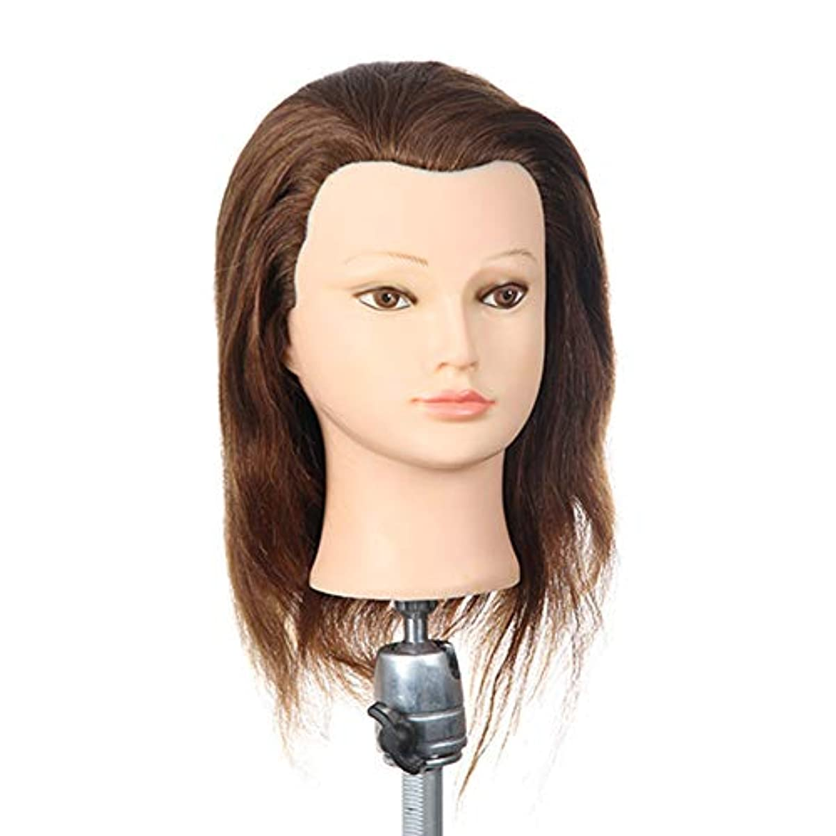 パーマ髪染めティーチングヘッドメイクヘアスタイリングモデルヘッド理髪練習ヘッドブローホットロールマネキンヘッド