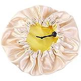 YiyiLai リバーシブル ナイトキャップ サテン 可愛い 室内帽 美髪用 プリント お休みキャップ 調節可能 子供用