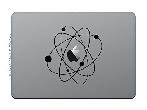 カインドストア MacBook Pro 13 / 15インチ 2016 / 12インチ マックブック ステッカー シール テレビ CM ラブ サイエンス アトム ビッグバン 宇宙 ブラック M793-B