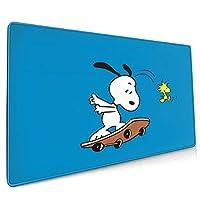 スケートボードスヌーピー 防水の滑り止め布ラバーバックライトと互換性のあるスタイリッシュでかわいいゲーミングマウスパッド