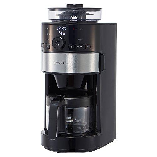 シロカ コーン式全自動コーヒーメーカーsiroca SC-C111(K/SS)