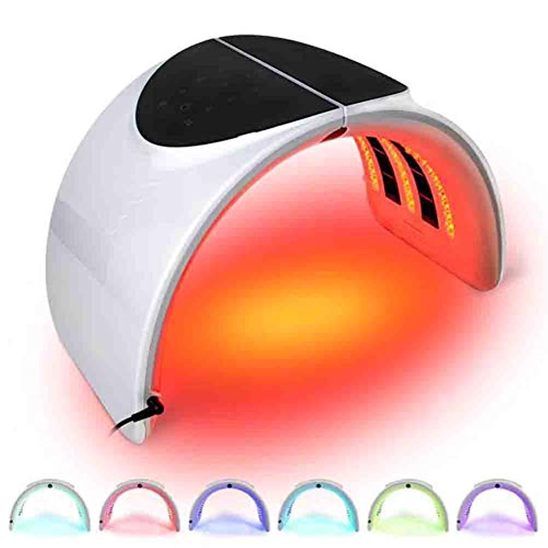 操作きれいに規定ライトセラピーフェイスは7色のにきび治療は、LED光子顔の皮膚ケアアンチエイジングキットマスクマスク