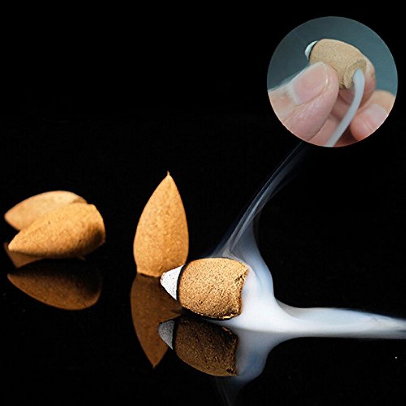 鬼ごっこ祝福するたっぷりTOPmountain 10個還流タワー 逆流香 セラミックバーナー ナチュラル実践 2.9 * 2 * 2cm サンダルウッドアロマセラピー