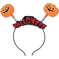 SIKIWIND ハロウィンのヘッドバンドカボチャの魔女のヘッドバンド大人の休日のパーティーの装飾ヘッドバックルバーショーライトパフォーマンス(カボチャ)
