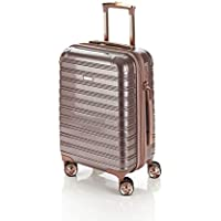 Flylite I-Deluxe 55cm Hard Suitcase Luggage Trolley Rose Gold Small