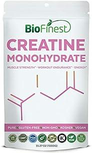 BioFinest Creatine Monohydrate Powder 2500Mg - Pure Gluten-Free Non-Gmo Kosher Vegan Friendly - Supplement For