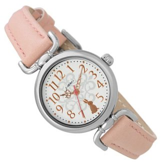 J-AXIS うさぎモチーフ かわいい レディース 腕時計 アニマル アンティーク ウォッチ ピンク HL194-PI