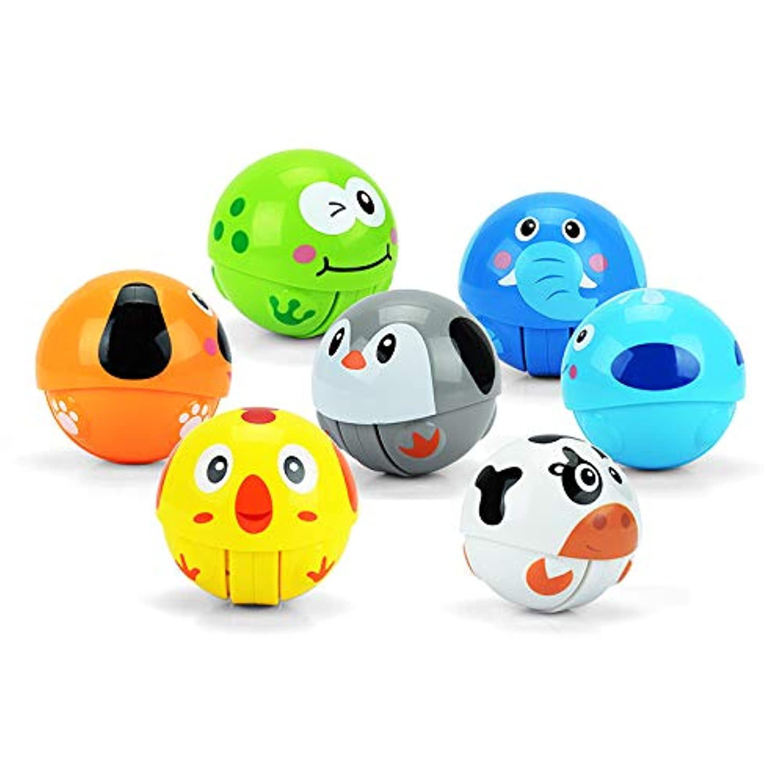 XIECCX ベビー キュート 動物 タンブラー おもちゃ - インエルティア クライミング トイ リング ベル クローリング ノベルティ 早期教育玩具 (ランダムに1個ずつ)