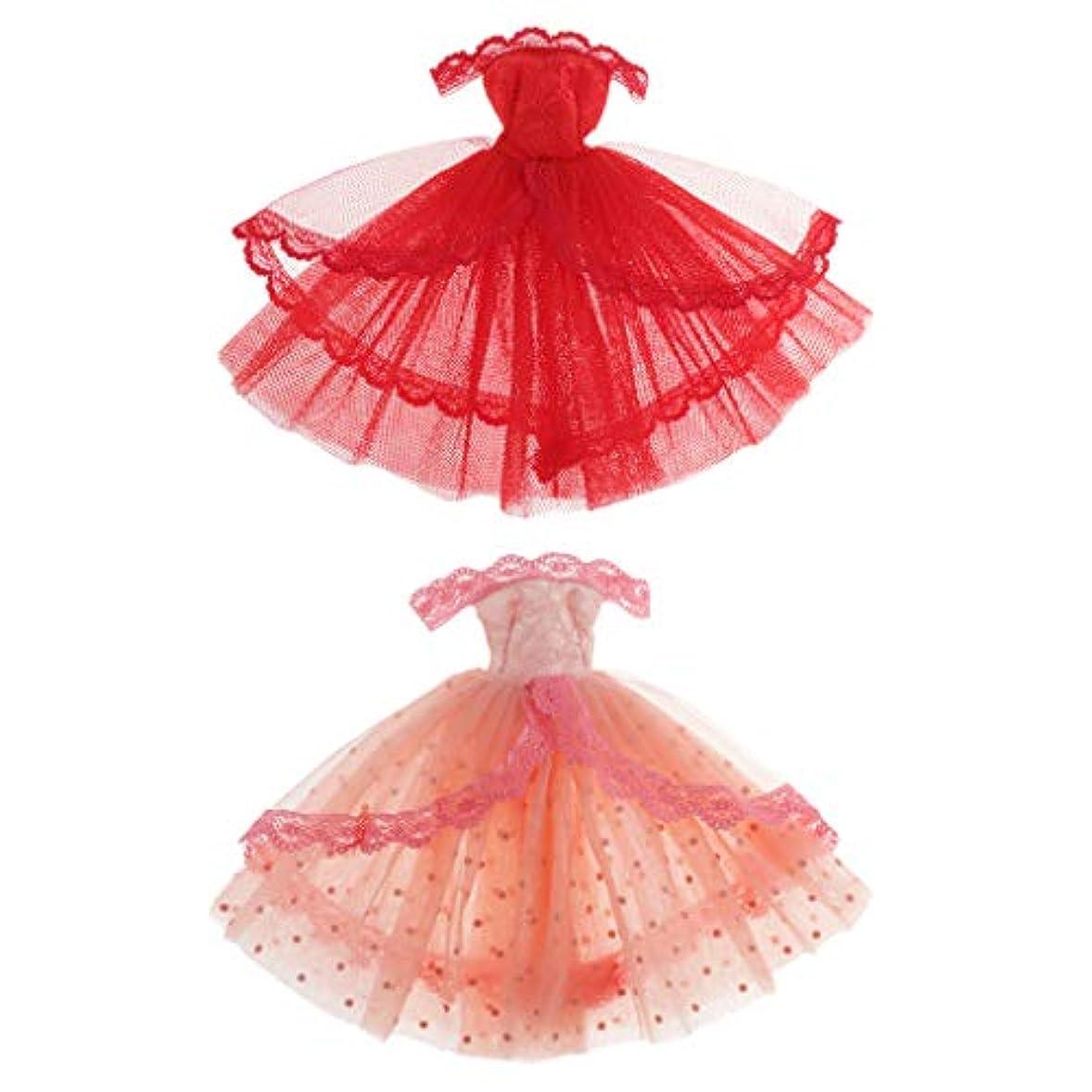 ビット最適反対するfreneci 1/6ブライスBJDドール用 ドレス ショルダーレースドレス かわいい 装飾 人形アクセサリー ギフト 2個入り