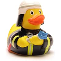 DUCKSHOP | Firefighter Rubber Duck | Bathduck ゴム製のアヒル| L: 8,5 cm