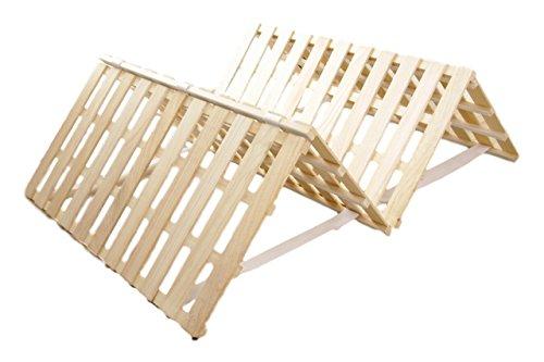 天然木桐 すのこベッド 4つ折り シングル