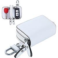 【Blume】ダブル ポケット レザー スマート キーケース 2つの鍵が収納 牛革