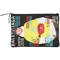 Balenciaga Men's 5067941CYFN3060 Black Leather Clutch