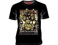 MARS16 キン肉マン 運命の五王子 Tシャツ ブラック x ゴールド