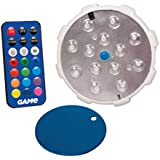 "GAME 4307-BB Waterproof Magnetic LED Color-Changing Pool Wall Light with Remote Control 100% Waterproof & Submersible, 4"", 12 Plus 4 Modes"