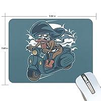 スカルパイレーツスクーター マウスパッド 滑り止めゴム製裏面 おしゃれ 厚くした 事務用のマウスパッド 携帯用 25X19CM