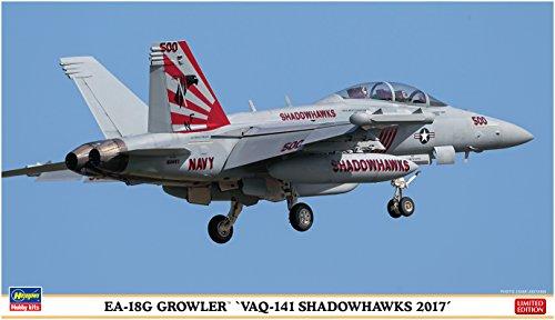 ハセガワ 1/72 アメリカ海軍 EA-18G グラウラー VAQ-141 シャドウホークス 2017 プラモデル 02250