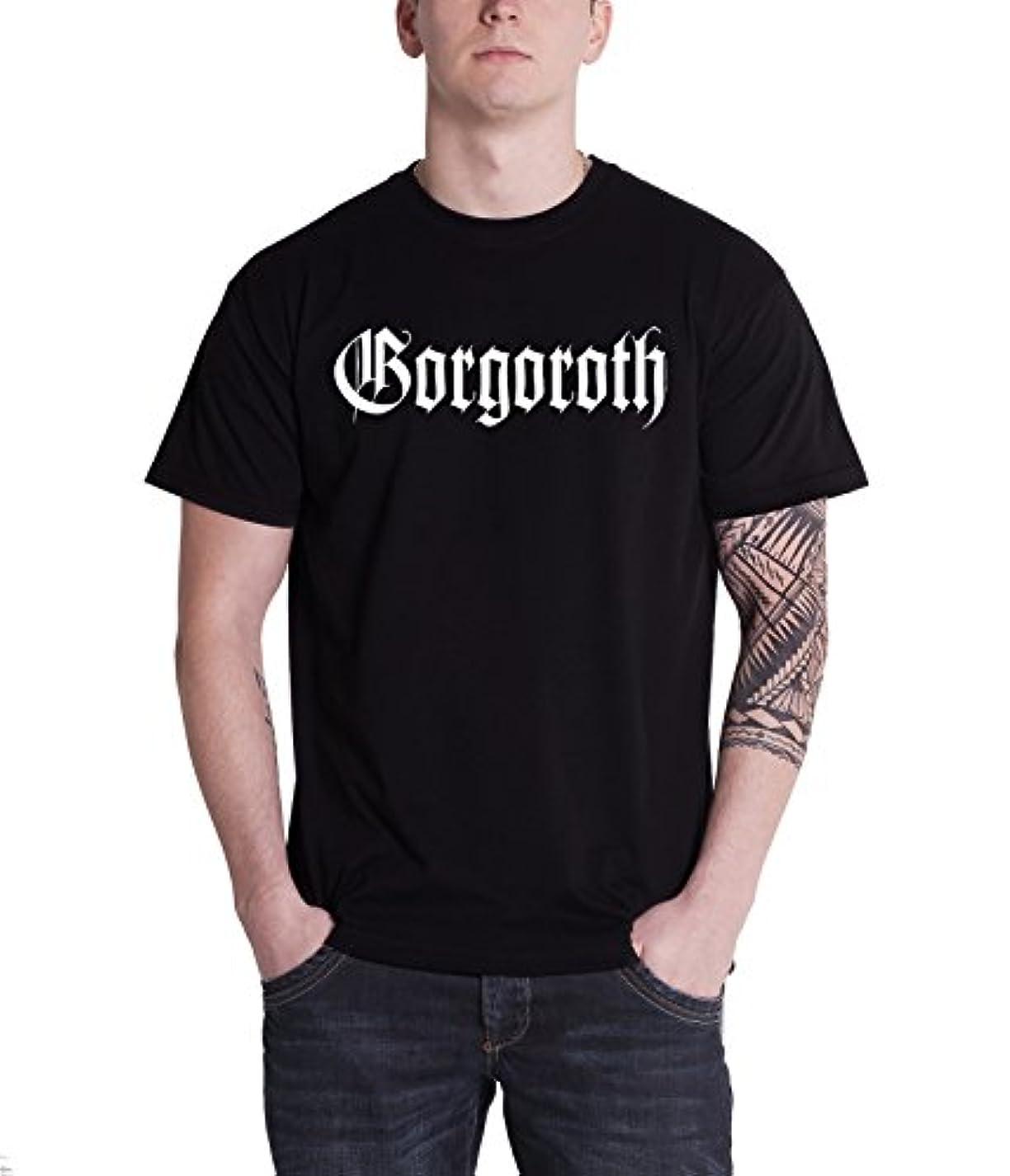 歴史的ねじれ女の子Gorgoroth T Shirt True Norwegian ブラック Metal Logo 公式 メンズ 新しい