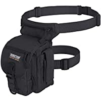 Seibertron Waterproof Airsoft Tactical Drop Leg Panel Utility Pouch Bag Type B Cross Over Leg Rig Outdoor Bike Cycling Hiking Hip/Thigh Bag