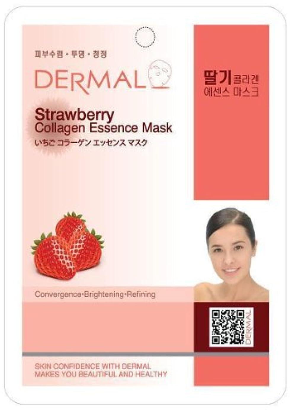 役に立つスタウト革新【DERMAL】ダーマル シートマスク いちご 10枚セット/保湿/フェイスマスク/フェイスパック/マスクパック/韓国コスメ [メール便]