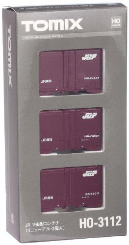TOMIX HOゲージ HO-3112 JR 19B形コンテナ (リニューアル・3個入)
