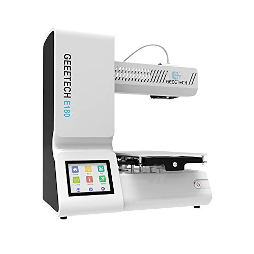 GEEETECH E180 3Dプリンター, 停電リカバリ機能付, リムーバブルノズル, 3.2型フルカラータッチスクリーン, SMARTTOオープンソースファームウェア.