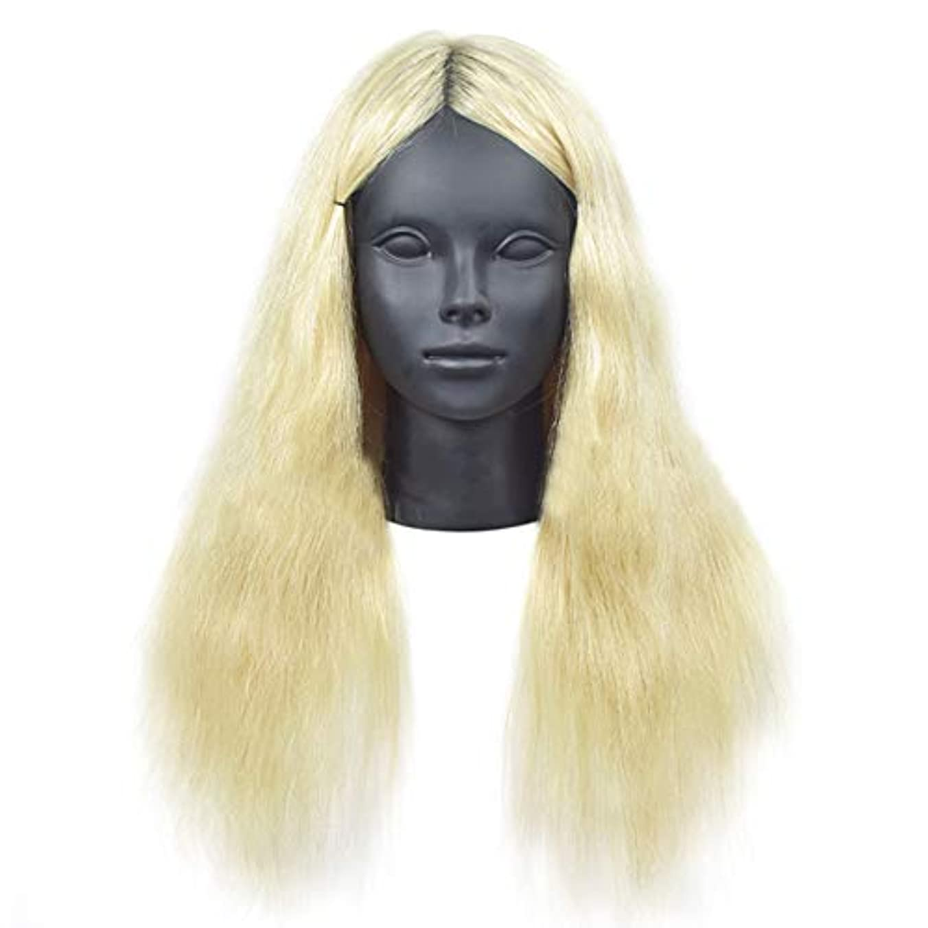 筋好意可愛いリアル人間の髪教育ヘッドパーマ髪織り髪モデル髪染め理髪ダミーヘッド学校教育ヘッドモデル