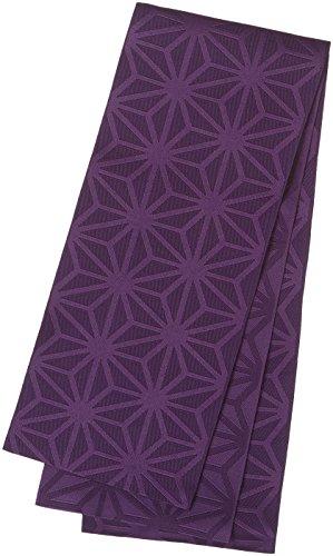 浴衣帯 麻の葉柄 半幅帯 おしゃれ帯 日本製 (E紫)