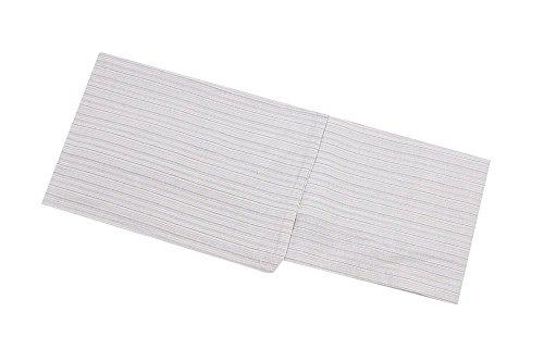 しじら織り 女浴衣(白に縞) 綿麻 麻混 女物浴衣 レディース 小さいサイズ 大きいサイズ フリー トール TLサイズ 白に縞