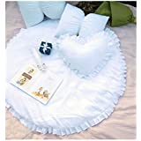 ノルディックラウンドマット厚い家庭の赤ん坊のクロールマット子供のカーペットのリビングルームのテントのゲームパッド JSFQ (色 : 白, サイズ さいず : 100CM)