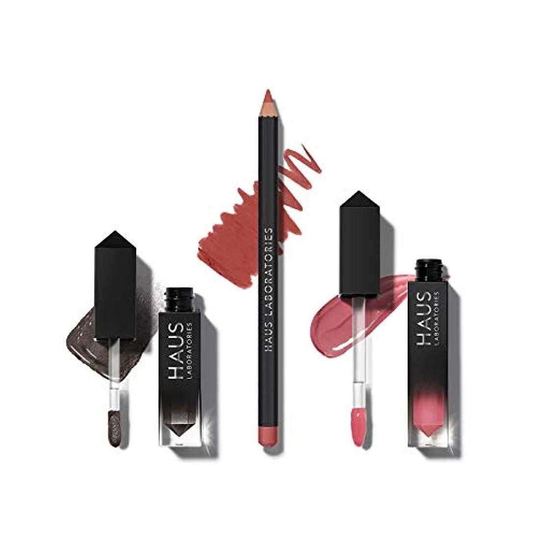先家具ウェーハHAUS LABORATORIES HAUS of Collections 3点セット All-Over Color, Lip Gloss, Lip Liner (HAUS of Metalhead)