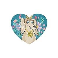 KWESG マウスパッド かわいい犬や美しい花 ゲーム用 ハート型 パソコン デスクマット おしゃれ 疲労低減 滑り止めゴム底 滑りやすい表面 会社 オフィス 学生 レディース 軽量 印刷
