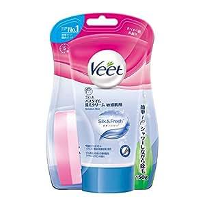 ヴィート Veet バスタイム専用 除毛 脱毛クリーム 150g 敏感肌用 保湿成分配合 低刺激 カミソリ負けする敏感肌用 ムダ毛ケア シャワータイム用