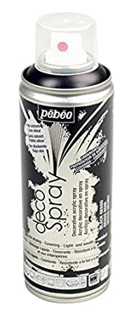 Pebeo 水性アクリルスプレーペイント デコスプレー ブラックジェッソ
