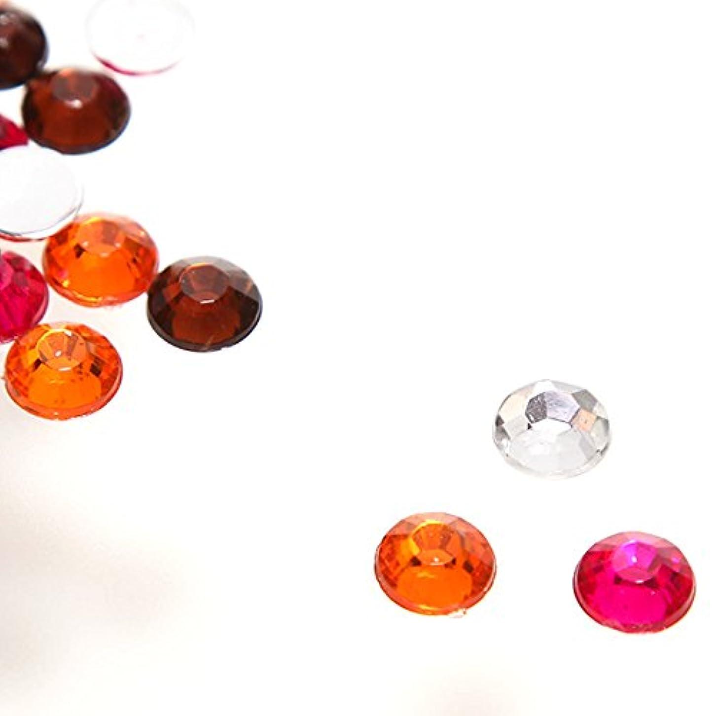 ジュース近代化する百大量 全色ミックス アクリル製 ラインストーン(サイズ選択可能)【ラインストーン77】 (8mm(60粒))