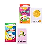 KESOTO フラッシュカード ワードカード カードゲーム 英語 語彙 動物 カラー 約72枚 2セット