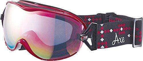 AXE(アックス) レディース スキー スノーボード ゴーグル UVカット AX650-WCM パールロゼ(RO)