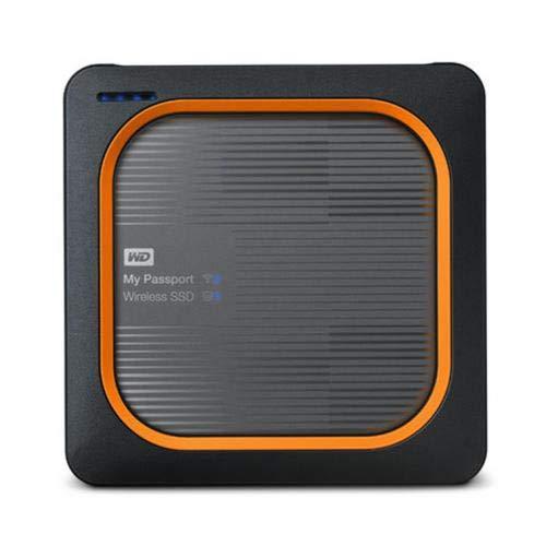 WD 1TB My Passport Wireless SSD - SD Card Backup, AC Wi-Fi, USB 3.0, Mobile App & 4K Streaming - WDBAMJ0010BGY-PESN