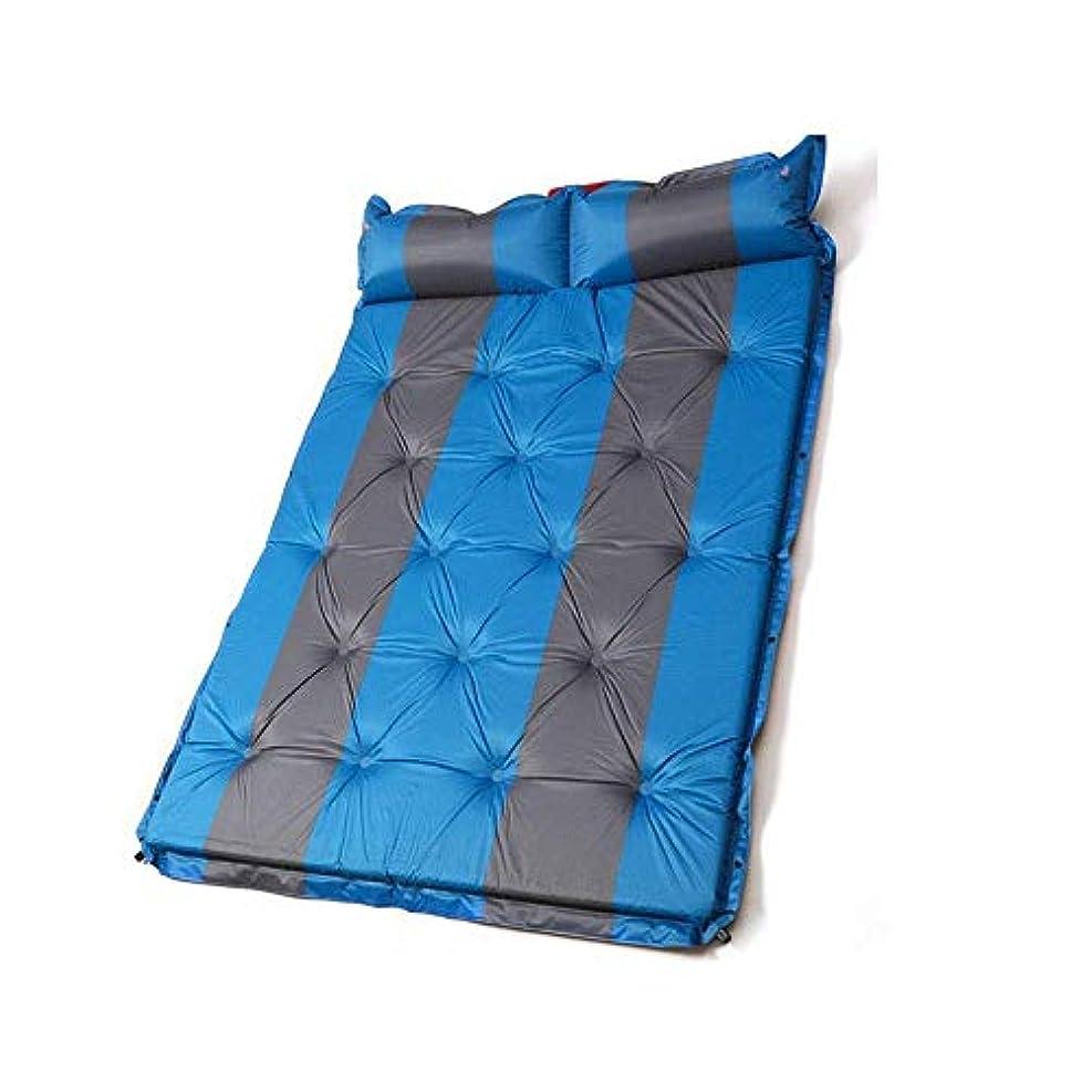 アンテナポータル航空便ZAQXSW 自動インフレータブルクッションポータブルテント睡眠パッド昼休みマットレスシングル肥厚ダブルマット屋外キャンプマット
