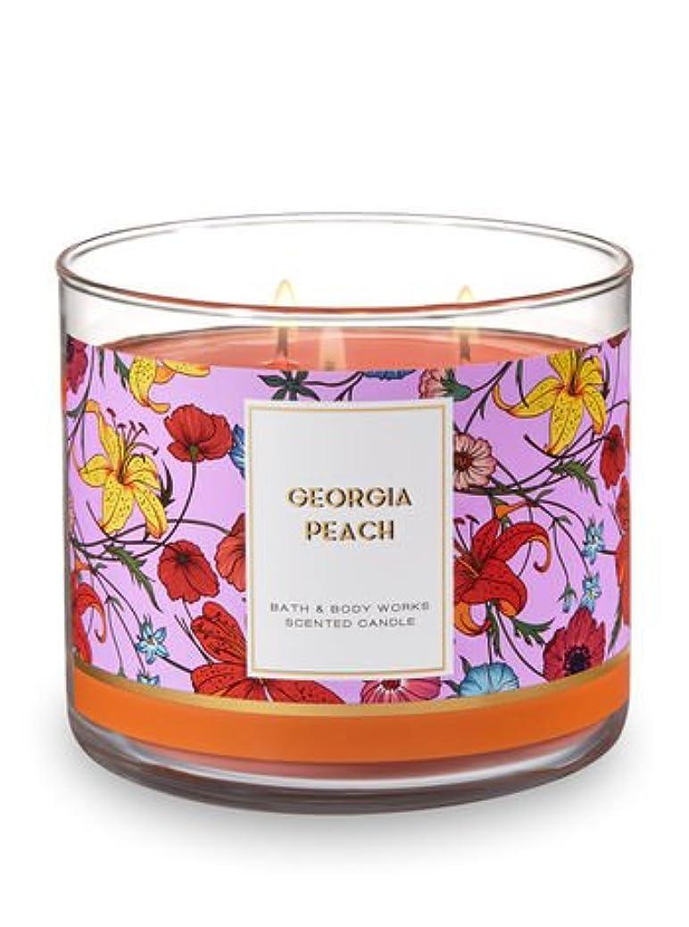 月面テクトニック肉Bath and Body Works 3 Wick Scented Candle Georgia Peach 14.5オンス