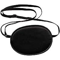 眼帯 シルク 弱視 斜視 視力矯正 保護眼帯 アイマスク (ブラック)