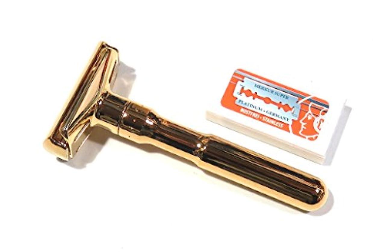 診療所バリア占めるメルクールMERKUR(独)髭剃り(ひげそり)両刃ホルダー