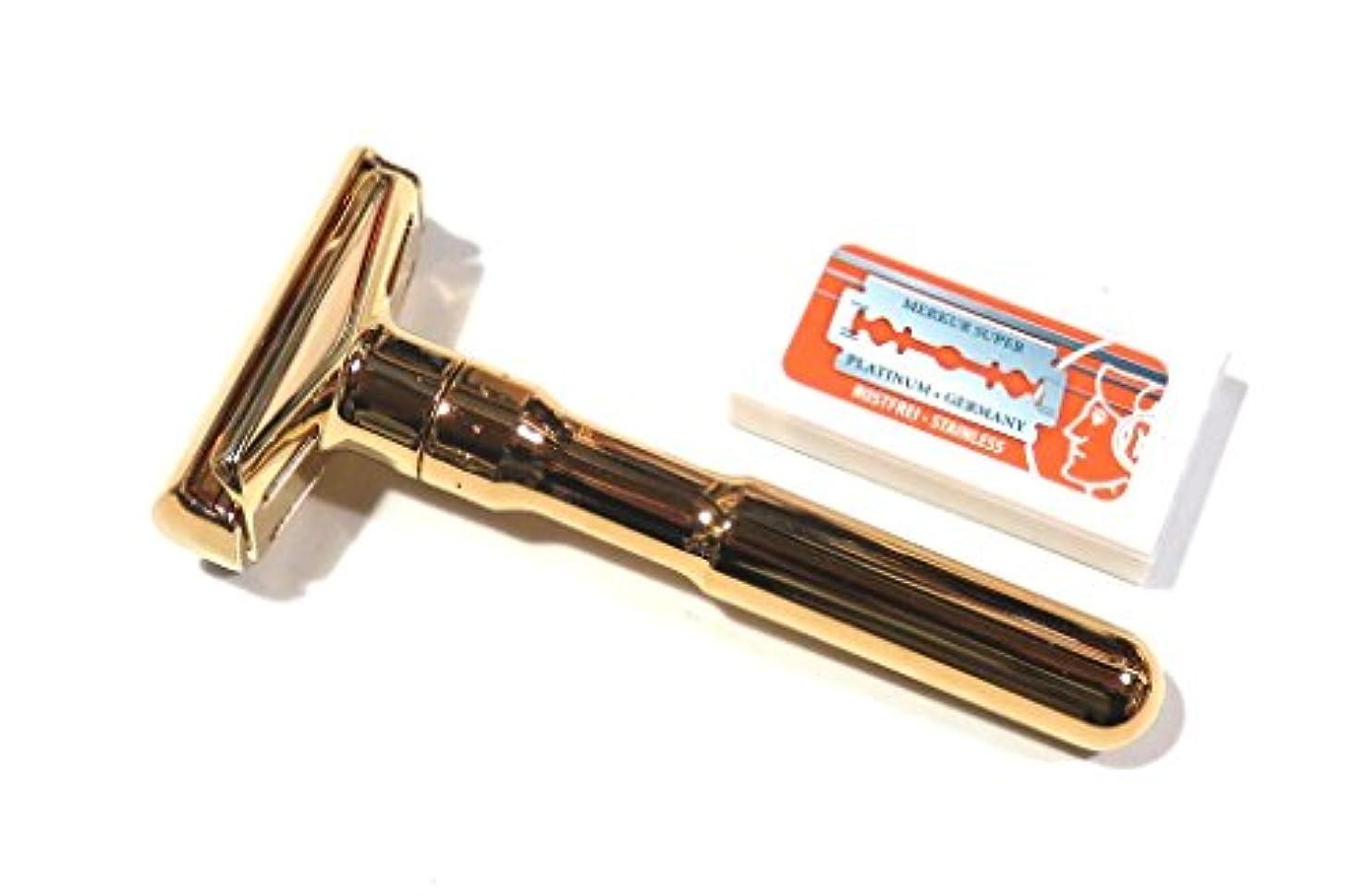 勤勉な頭蓋骨行うメルクールMERKUR(独)髭剃り(ひげそり)両刃ホルダー